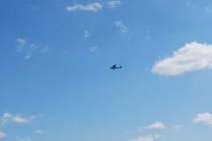 Hubschrauber im Himmel