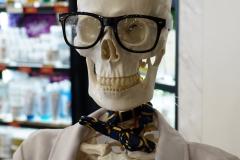 Skelet im Doktorkittel