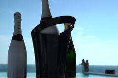 Champagner mit Hintergrund