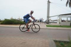 Mann auf einem Rennrad