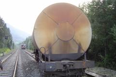 Entgleister Wagon